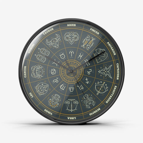 Astrology Wall Clock Silent Non Ticking Quality Quartz