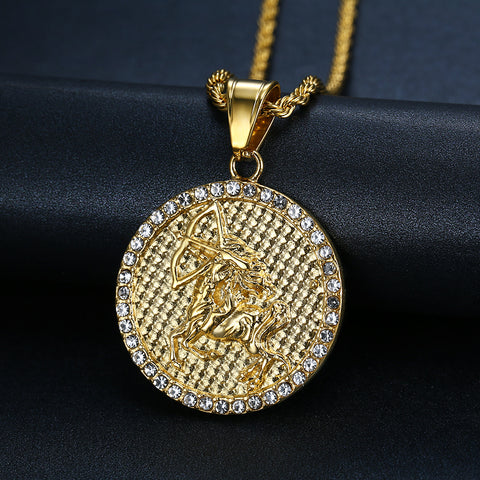 Men's Sagittarius Gold/Silver necklace