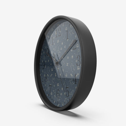 Zodiac Constellation Wall Clock Silent Non Ticking Quality Quartz