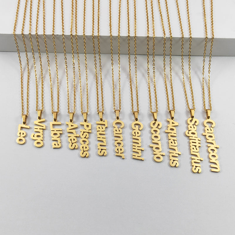 Cancer name necklace (gold)