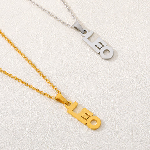 Leo name necklace (gold)
