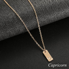 Capricorn geometric necklace