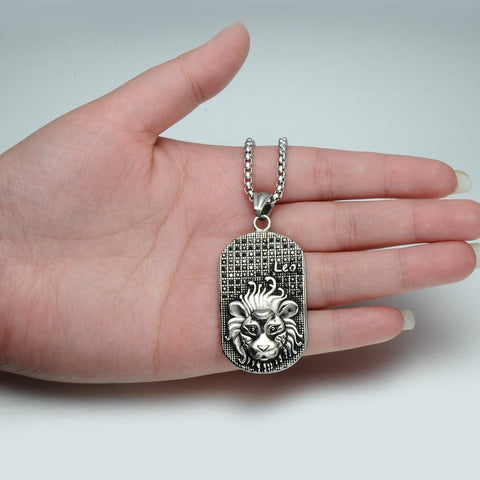 Leo 3D Dog tag necklaces