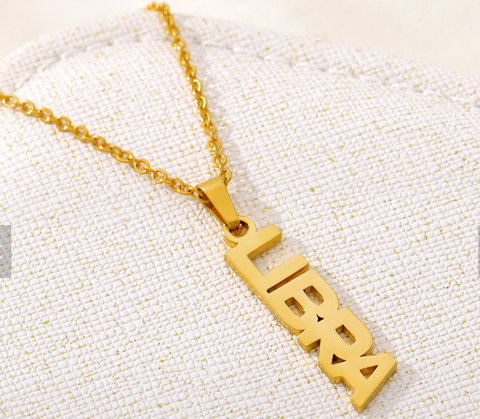 Libra name necklace (gold)