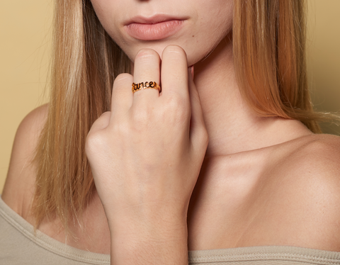 Cancer reversible gold ring