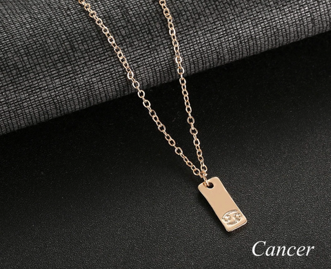 Cancer geometric necklace