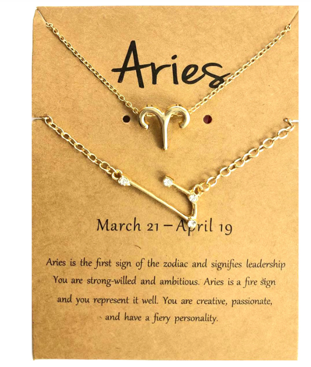 Aries necklace and bracelet set