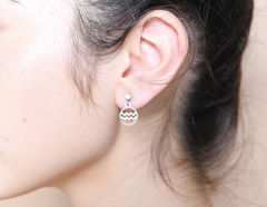Aquarius stud hoop earrings