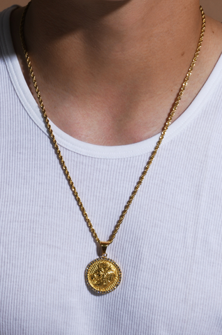 Men's Leo Gold/Crystal (The Lion) necklace