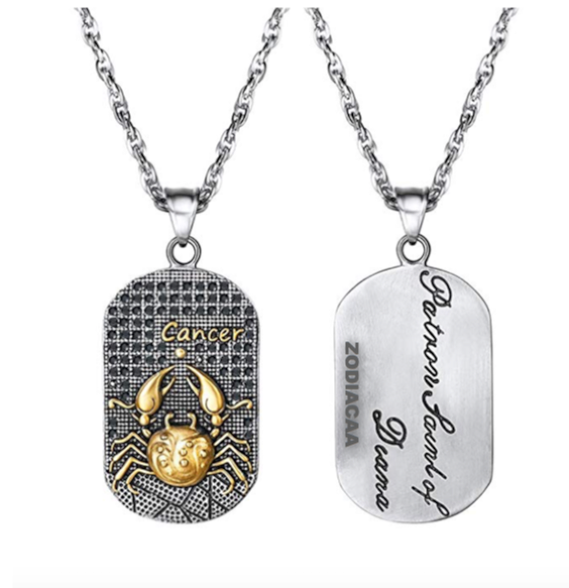 Cancer 3D Dog tag necklaces