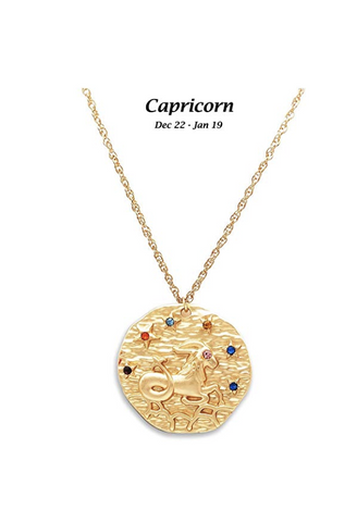 Capricorn astrology necklace