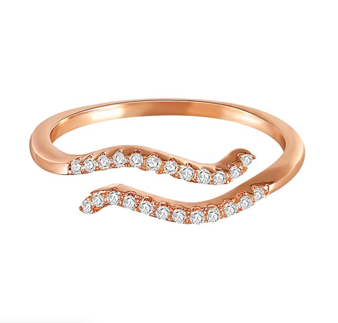 Rose Gold rhinestone zodiac rings