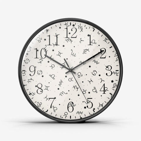 Zodiac Logos Wall Clock Silent Non Ticking Quality Quartz