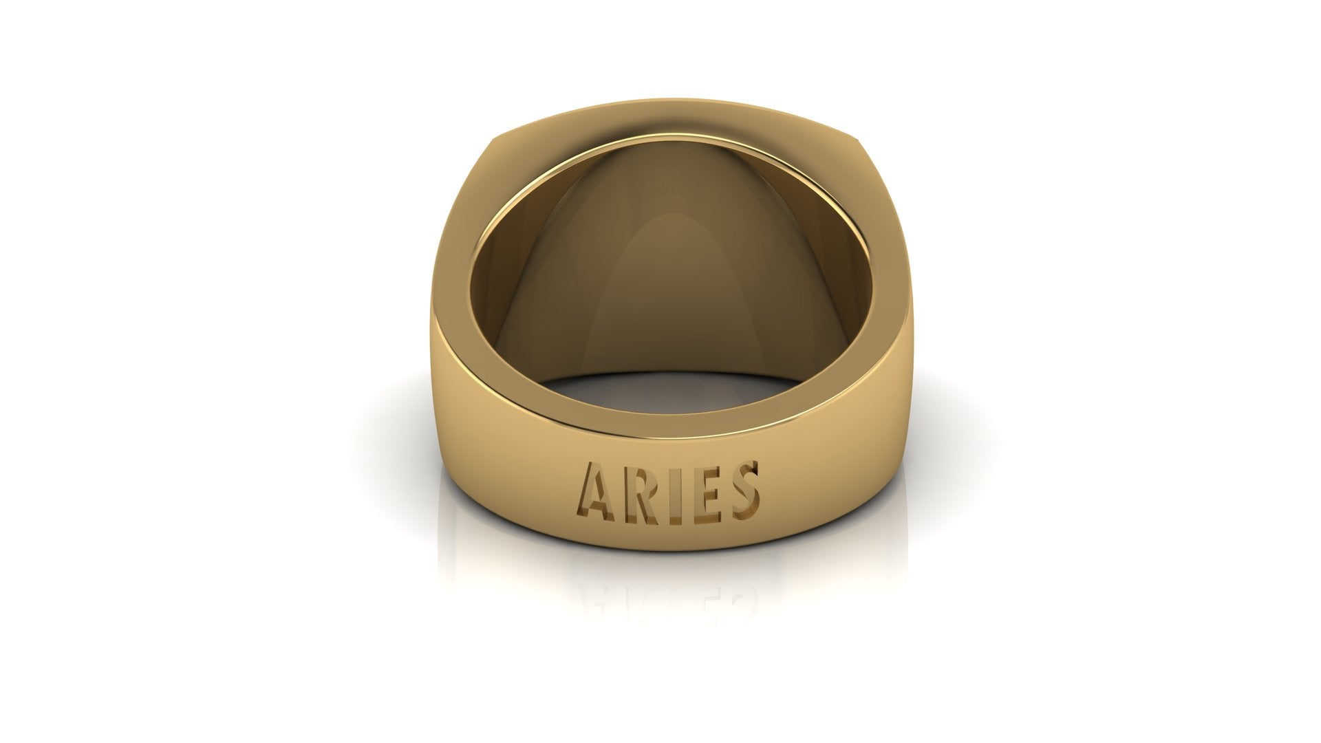 Aries Gold&Blog mens ring