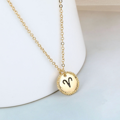 Aries goldie necklace