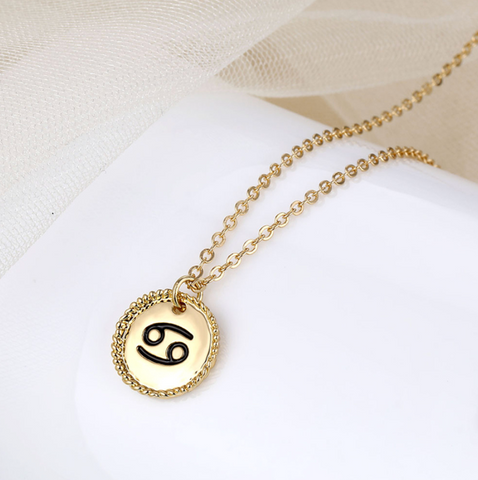 Cancer goldie necklace