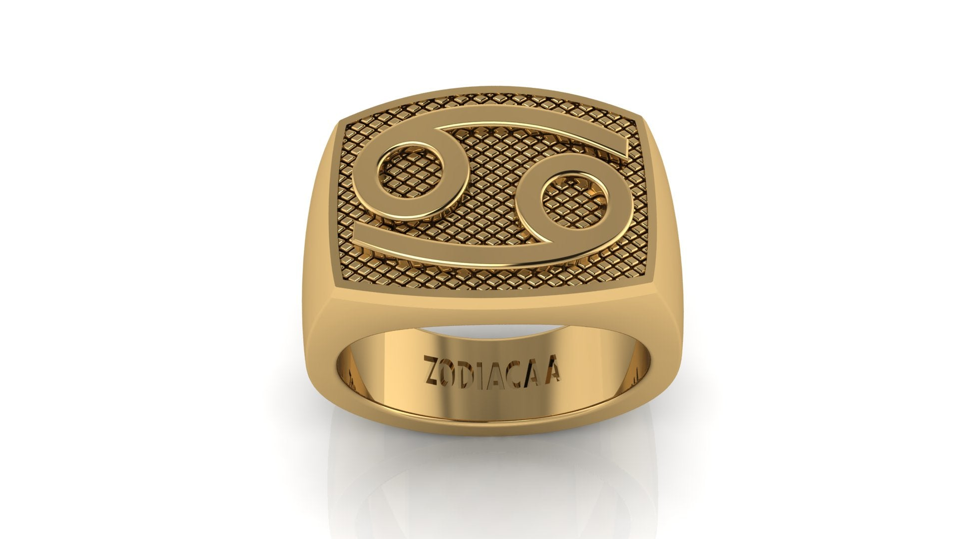 Cancer Gold&Bold mens ring