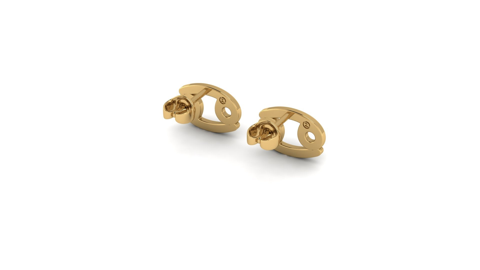 Cancer Zostud Earrings