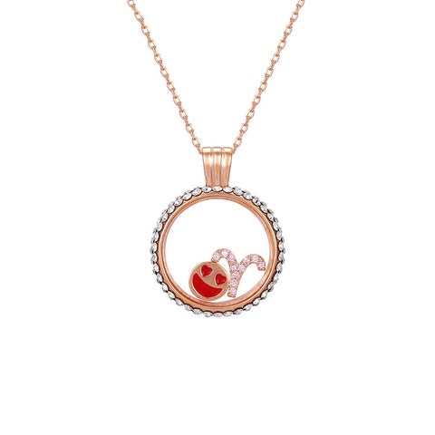 Aries swarovski crystal necklace