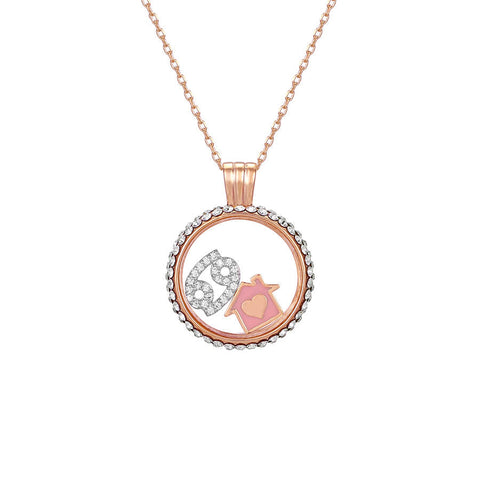 Cancer swarovski crystal necklace