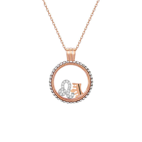 Leo swarovski crystal necklace