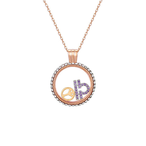 Libra swarovski crystal necklace