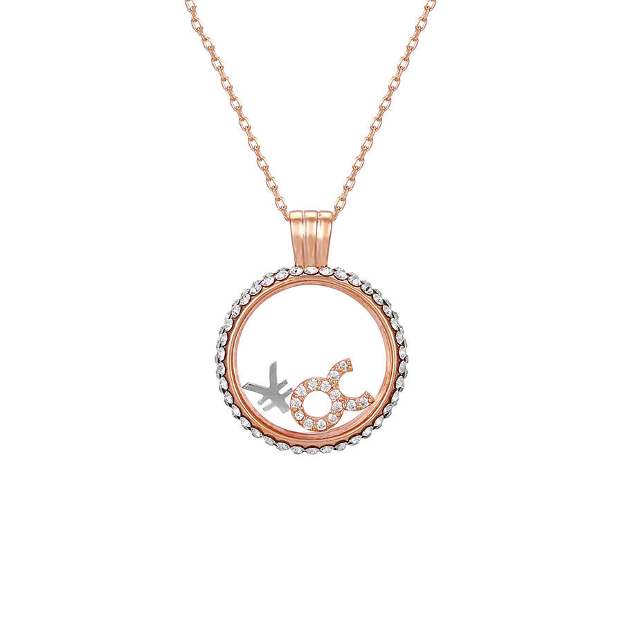 Taurus swarovski crystal necklace