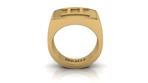 Gemini Gold&Bold mens ring