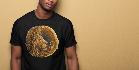 Men's Lion Leo Short-Sleeve T-Shirt