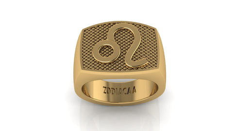 Leo Gold&Bold mens ring