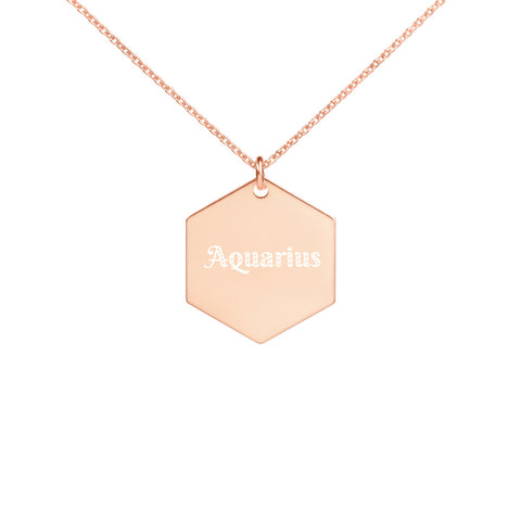 Aquarius Hexagon Necklace