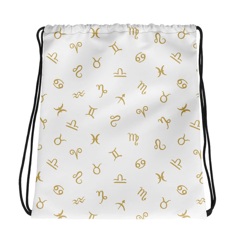 Zodiac logo Drawstring bag