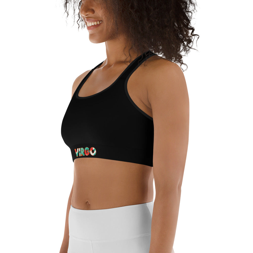 Virgo Black Sports bra