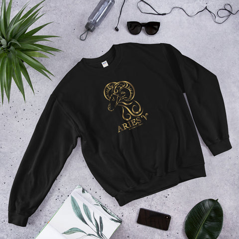 Aries Golden Unisex Sweatshirt