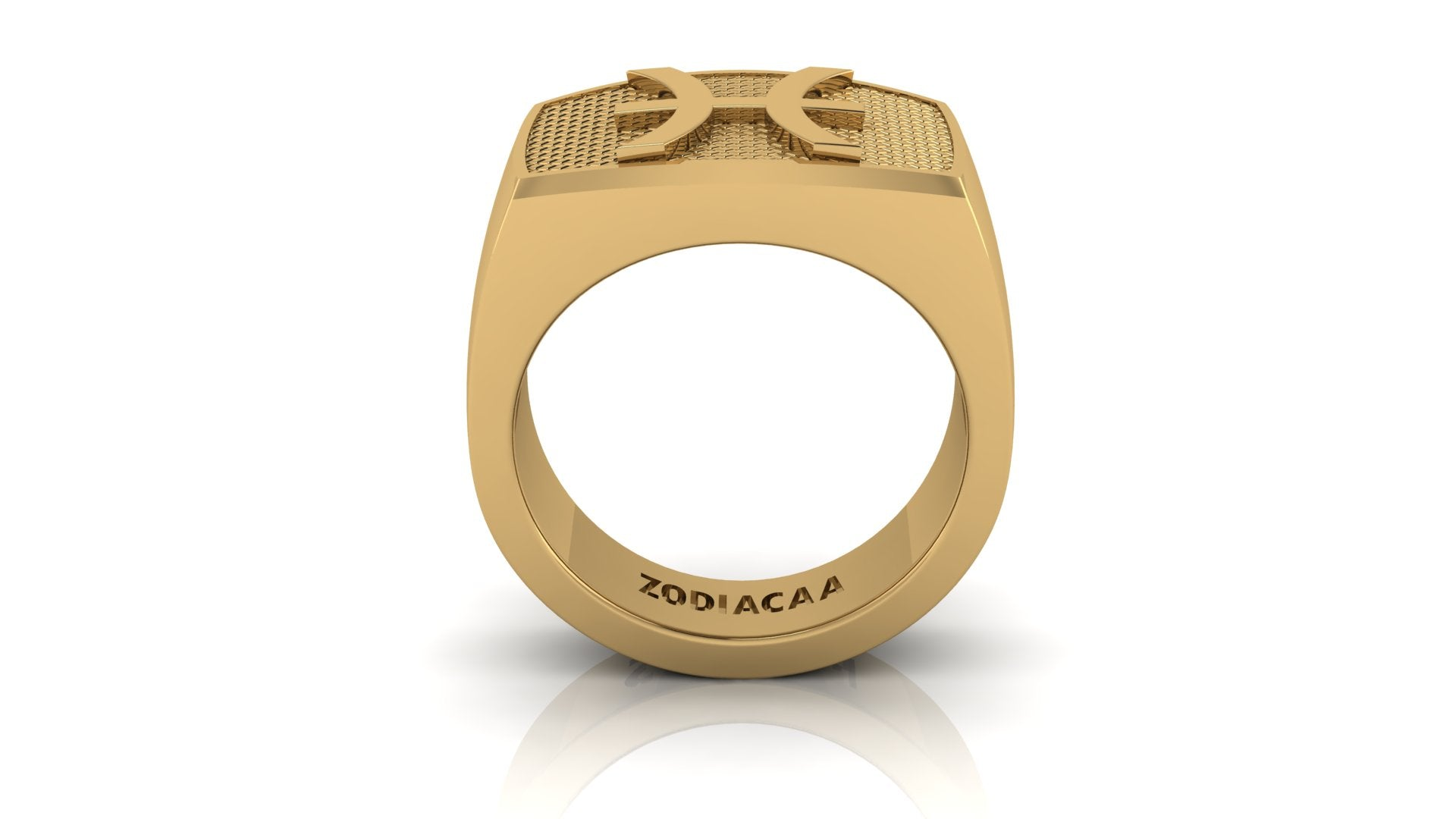 Pisces Gold&Bold mens ring