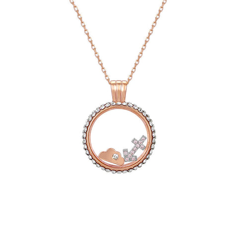 Sagittarius swarovski crystal necklace