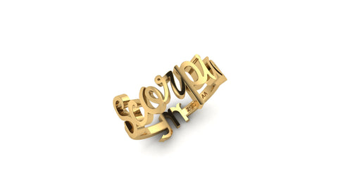 Scorpio gold reversible ring