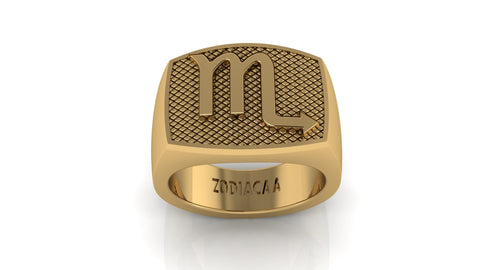 Scorpio Gold&Bold mens ring