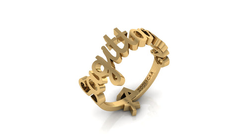Sagittarius gold reversible ring