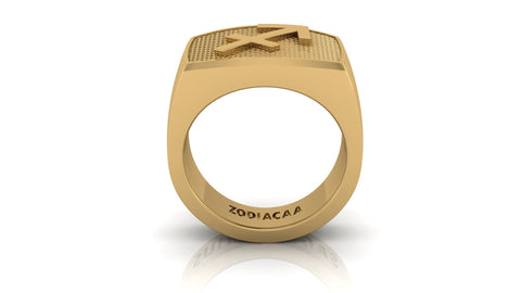 Sagittarius Gold&Bold mens ring