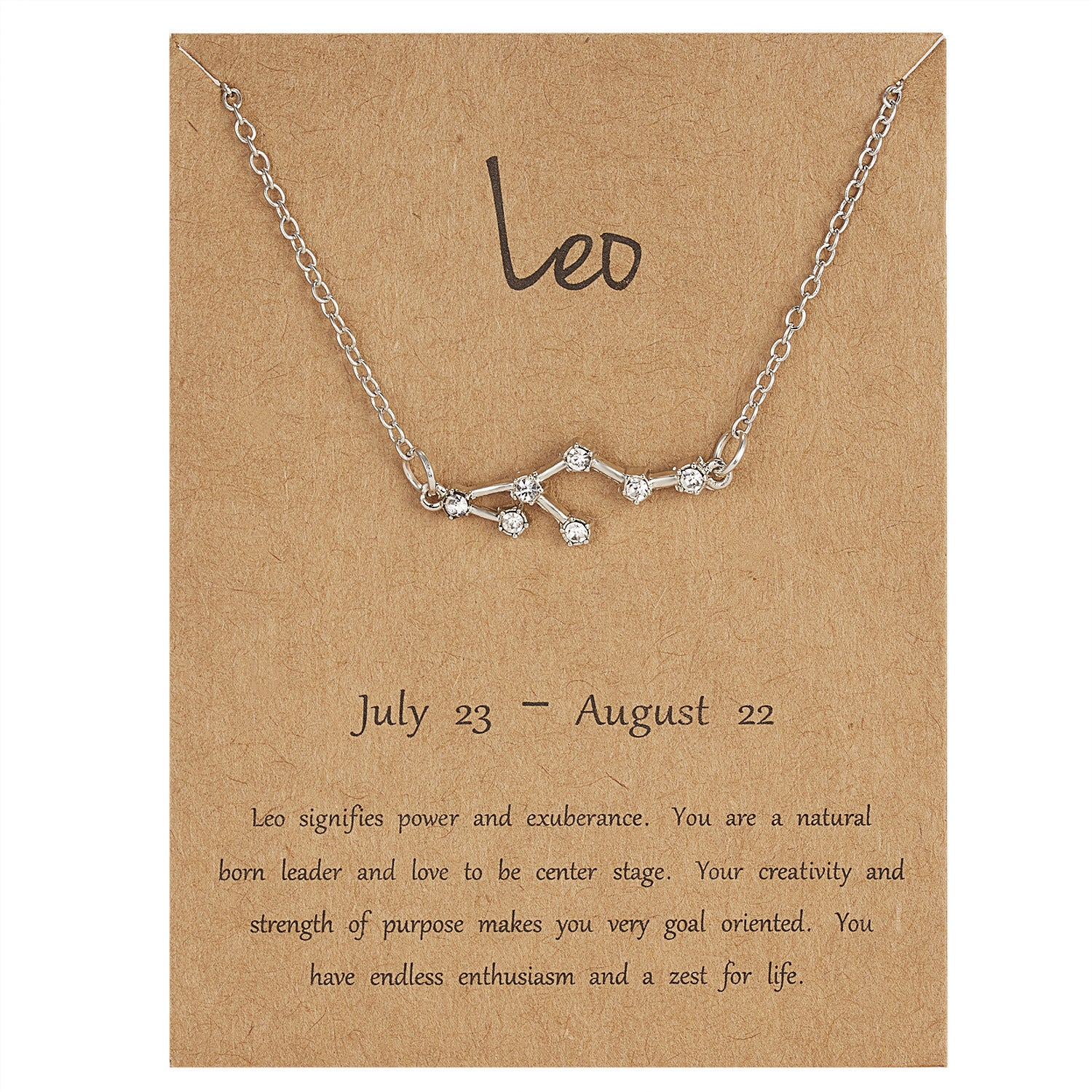 Select your sign-Constellation Crystal Zodiac Necklace (Silver)