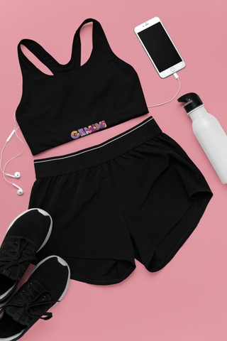 Gemini Black Sports bra