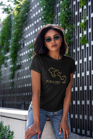 Aquarius golden T-Shirt