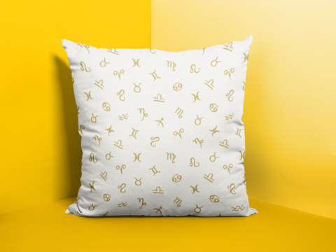 Zodiac logo sign Pillow Cases