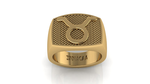 Taurus Gold&Bold mens ring