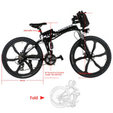 ANCHEER 26 Inch Wheel Folding Electric Mountain Bike with Super Lightweight Magnesium Alloy (Pre-sale: Ship on June 20)