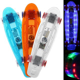 Ancheer 22 Inch Mini Cruiser Crystal Skateboard with LED Light Up Deck