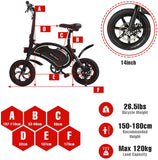 ANCHEER 14 Inch Wheel Folding Electric Bike 500W with Removable 48V 7.5A Battery