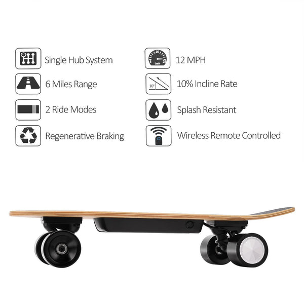 Ancheer Mini Electric Cruiser Skateboard E200 EU PLUG