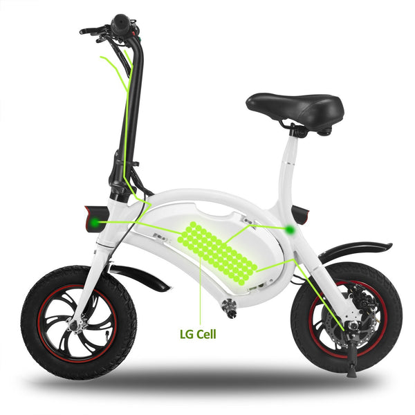 ANCHEER Mini-Size 12 Inch Wheel 350W Folding Electric Bike Waterproof Scooter, APP Speed Setting